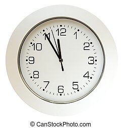 5 minutes to twelve - Office, home, or school wall clock, 5...