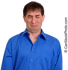 Man in Blue Dress Shirt 6 - Man in blue dress shirt looking...