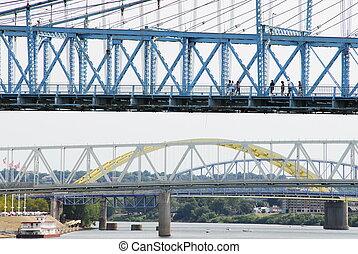 four bridges over the Ohio river