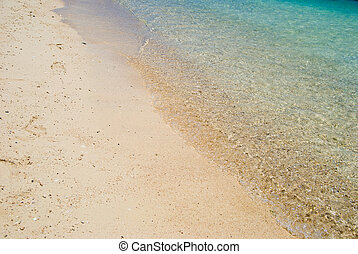 water on sand - Sea water on sand
