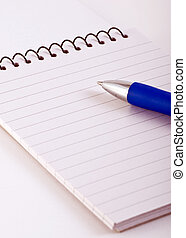 lined note pad with spiral binding