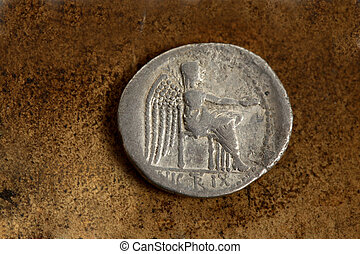 Roman Silver Coin 89 BC - Reverse side of Roman Republic...