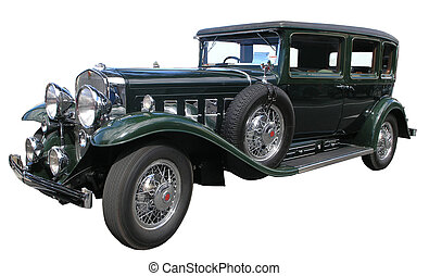 1930 Cadillac Fleetwood - A vintage car isolated on white...
