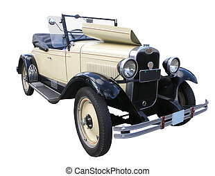1928 Chevrolet Roadster - A 1928 Chevrolet Roadster isolated...