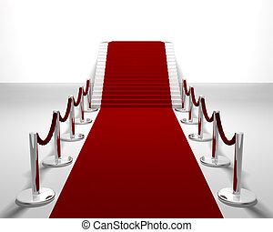 rojo, alfombra