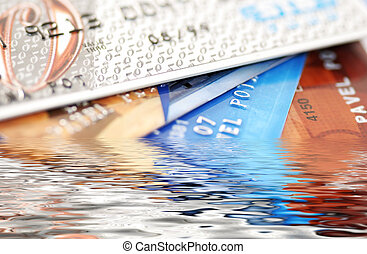 credit cards  - Credit cards on a white background