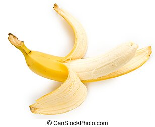 banana - one ripe banana on a white background