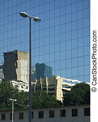 Reflection on a building