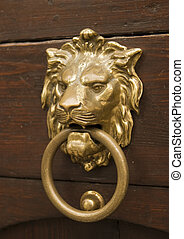 Old Czech Door Knocker - An old Czech door knocker in the...