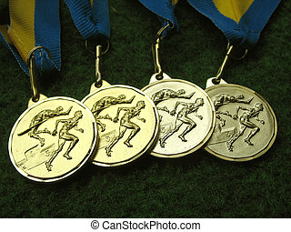 Medals 3 - Athletics medals for a winner or champion