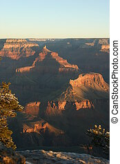 Grand Canyon sunrise - Sun rising over the Grand Canyon