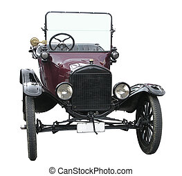 Ford Model T - Model T Ford isolated with clipping path