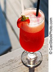 Strawberry daiquiri - Cold strawberry daiquiri beverage...