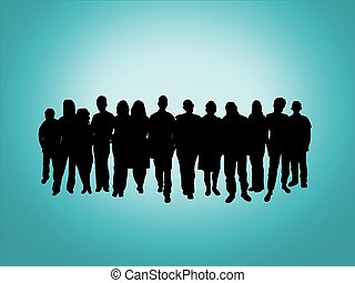 Crowd - Illustration of a crowd of people