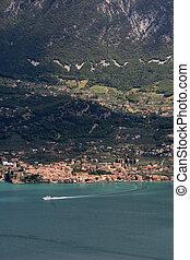 garda lake - view on the garda lake italy