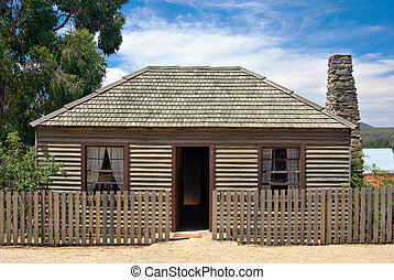 old settlers cottage - an old wooden settlers or miners...