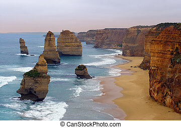Twelve Apostles - The Twelve Apostles along the Great Ocean...