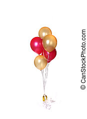 Party Time - Bunch of Party Balloons Isolated on White
