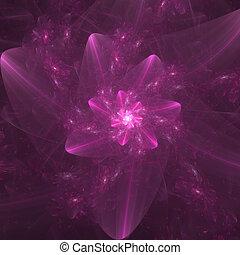 Fractal Flower - rendering of pink fractal floral background
