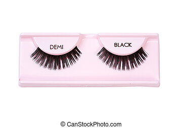 Black demi lashes - A pair of black demi false eyelashes