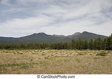 Mountain Range - Mountain range at the entrance to Wupatki...