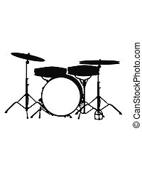 drumset - isolated on white backround
