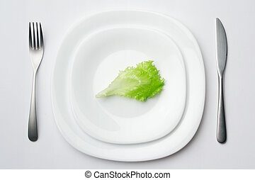 place setting with lettuce leaf 2