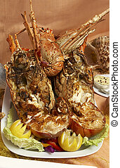 Delicious lobster - A grilled lobster ready to be served