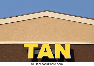 Tan - Front facade of a tanning salon