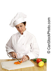 cozinheiro, série, -, ocupado, trabalhando