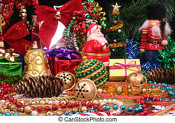 Christmas Display - Christmas Ornaments and Decorations With...