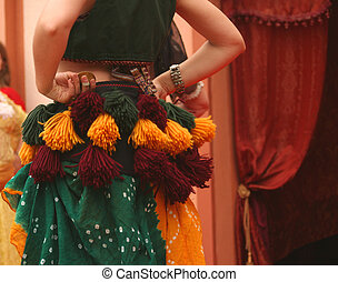 Belly Dancer at Festival Performance, Close-up