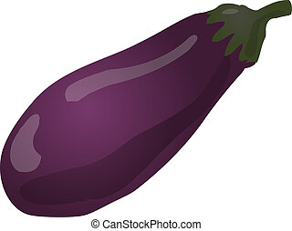 Eggplant - Sketch of an eggplant. Hand-drawn lineart look...