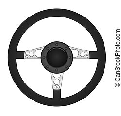 Steering Wheel - Illustration of a concept steering wheel
