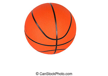 Basketball - Basketball, round, orange with black stripes,...