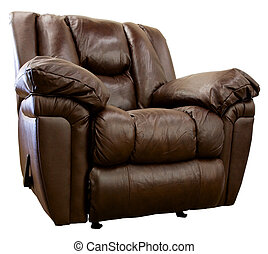 Leather Rocker Recliner - Large Comfortable Overstuffed...