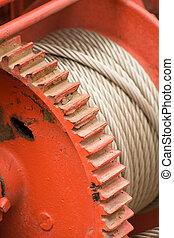 Gearwheels - red Gearwheels close up shot