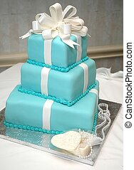 Formal Birthday Cake - Formal birthday cake on table with...