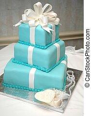 formal, cumpleaños, pastel