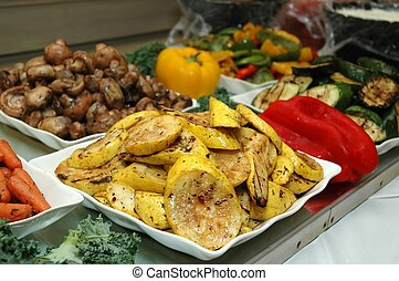 Buffet Table - Buffet table in restaurant.