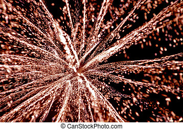 3D Fireworks - Time exposure photo of Fourth of July...