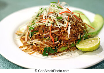 Asian noodles - A plate of asian fried glass noodles