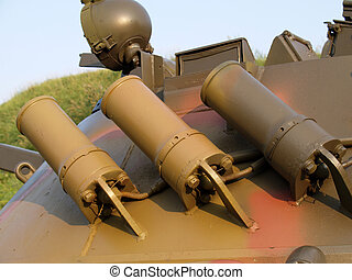 smoke grenade launchers - tank smoke grenade launchers on...
