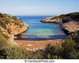 Virgin beach in Majorca