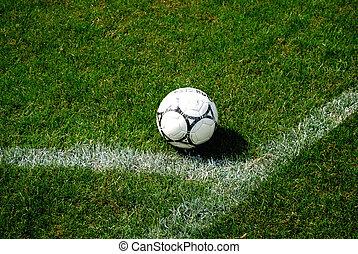Freekick spot - Ball ready to take a free kick