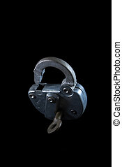 Vintage Lock And Brass Key