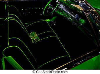 Neon Car - Neon Green Car