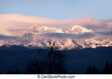 andes sunrise - sunrise in the andes of south america