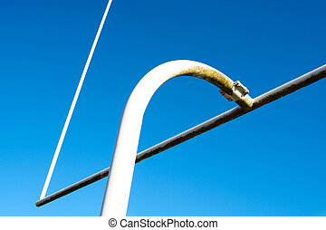 Football - A shot of an american football goal post