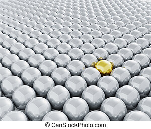 Stand out from the crowd - 3D render depicting standing out...